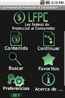 Screenshot of Ley Federal de Protección al C