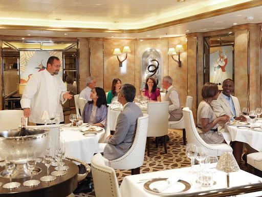 Cunard-Queen-Elizabeth-The-Verandah - Stop by The Verandah restaurant for inviting French cuisine while cruising aboard Queen Elizabeth.