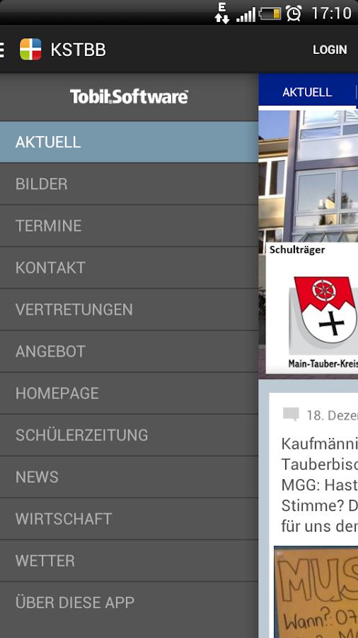 Kfm. Schule Tauberbischofsheim - screenshot