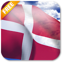 3D Denmark Flag Live Wallpaper icon