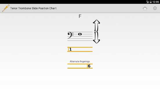 Trombone Slide Position Chart- screenshot thumbnail
