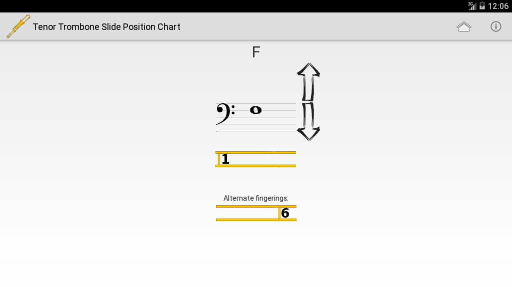 Trombone Slide Position Chart- screenshot