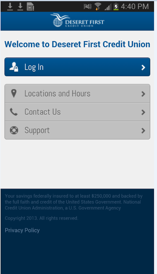 Deseret 1st CU Mobile Banking- screenshot