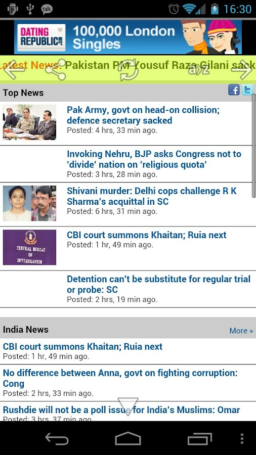 Indian Newspapers - screenshot