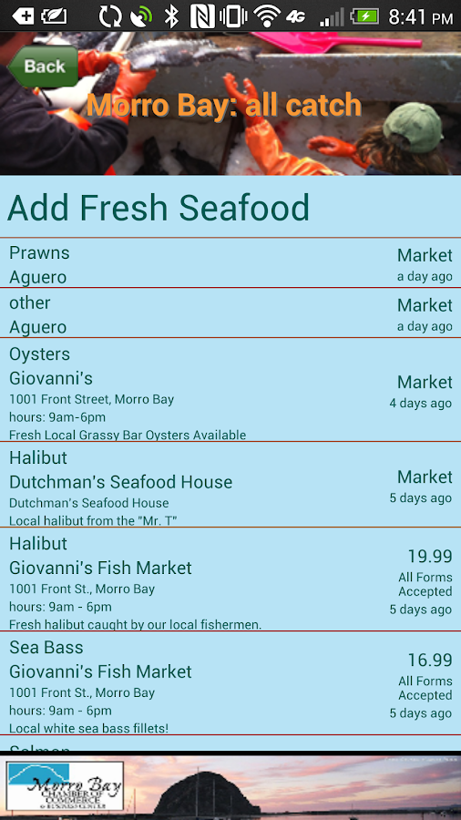 FishLine Fresh Local Seafood - screenshot