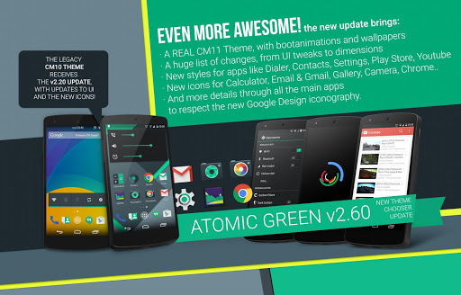 Atomic Green CM11 Theme v2.60
