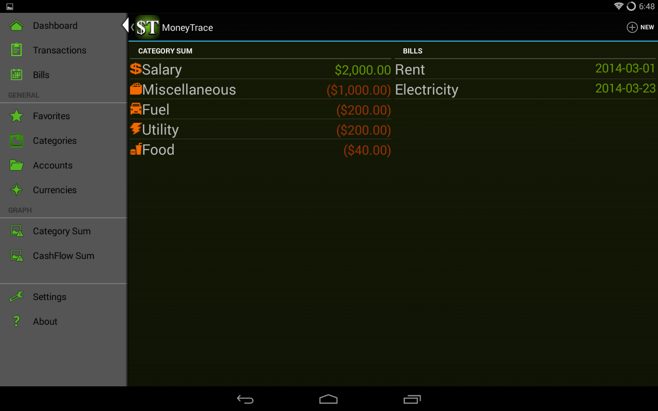 MoneyTrace - screenshot