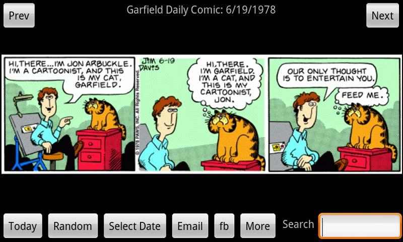 Garfield Daily - screenshot