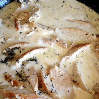White Wine & Garlic Cream Sauce.