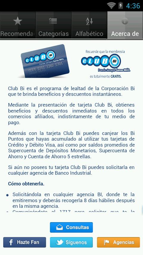 Mi Club BI - screenshot
