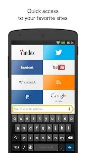 Yandex.Browser for Android- screenshot thumbnail