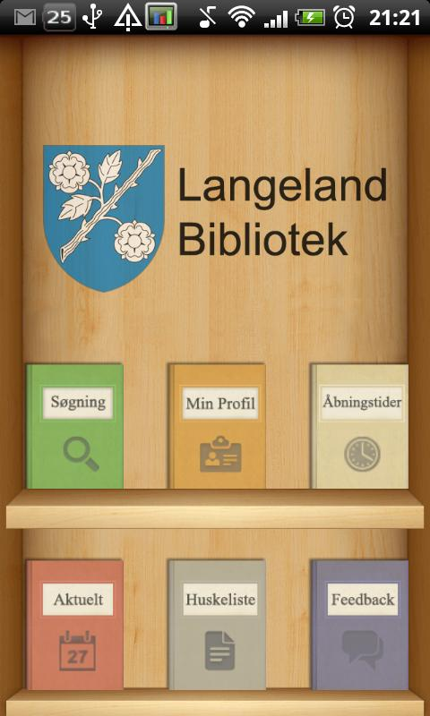 Langeland Bibliotek- screenshot