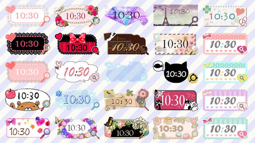 Cute Clock Widget 2 u3010FREEu3011 1.0.1 Windows u7528 5