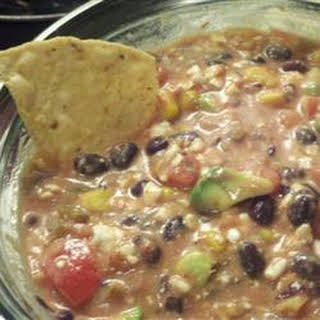 Cottage Cheese, Avocado, and Black Bean Salsa.