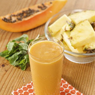 Martha's Pineapple-Papaya Juice.