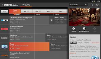 Screenshot of Foxtel Guide