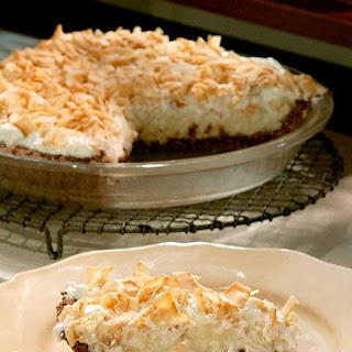 Coconut Cream Pie with Chocolate Macaroon Crust