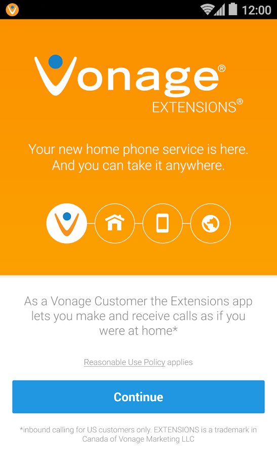 Vonage Extensions- screenshot