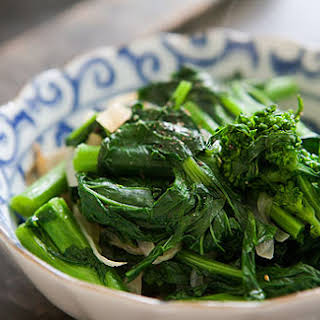 Broccoli Rabe with Caramelized Onions.