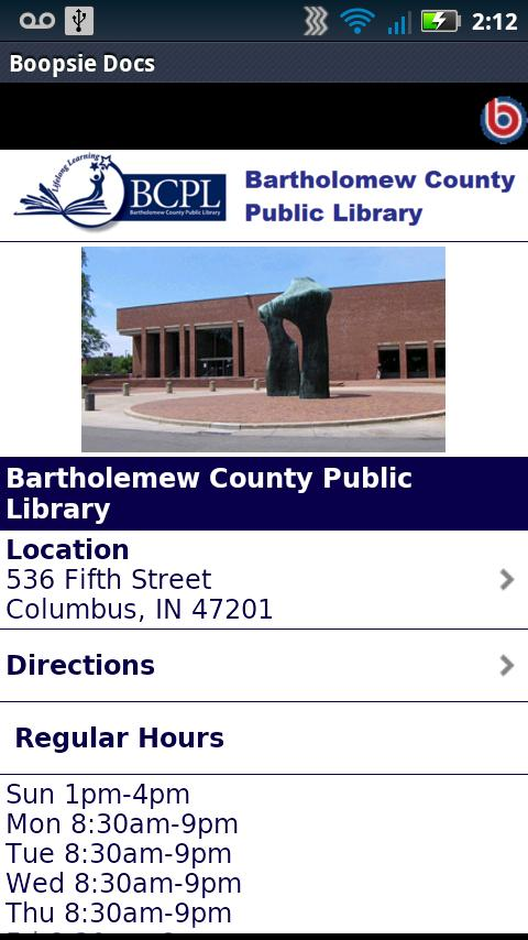 Bartholomew Co Public Library - screenshot