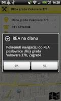 Screenshot of RBA na dlanu