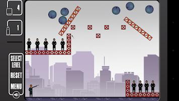 Screenshot of Mafia Kills: Bouncing Bullets