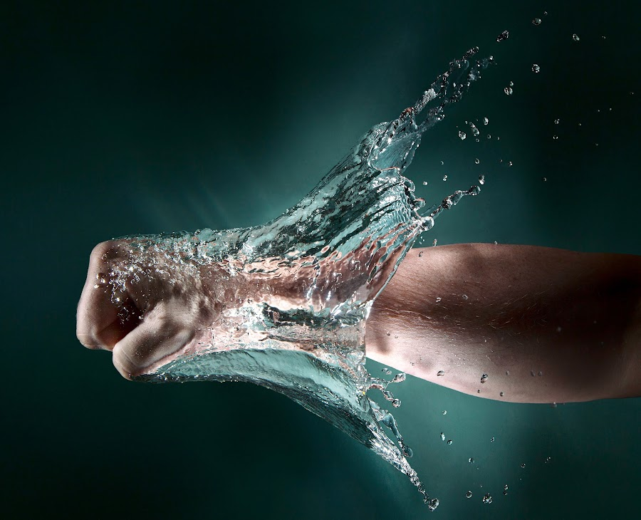 power by Geir Andersen - Abstract Water Drops & Splashes ( water, fredrikstad, flash, speedlight, splash, punsh, fist, norge, ostfold, norway )