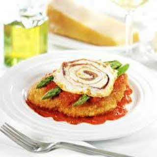 Chicken & Asparagus Parmesan.