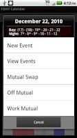 Screenshot of FDNY Scheduler