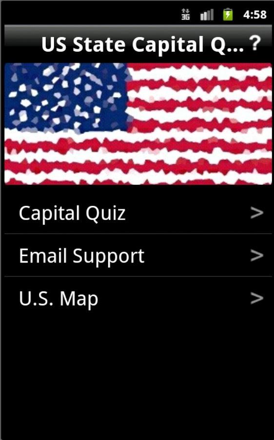 US State Capital Quiz - screenshot