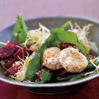 Arugula, Beet, and Goat-Cheese Salad.