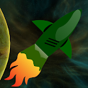 Spaceship asteroids icon