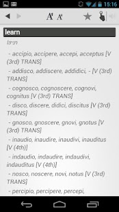 Dictionary Latin English - screenshot thumbnail