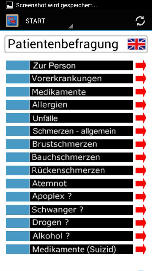 MedTrans-englisch - screenshot