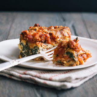 SPINACH TURKEY LASAGNA.