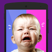 Boy or girl: a baby crying
