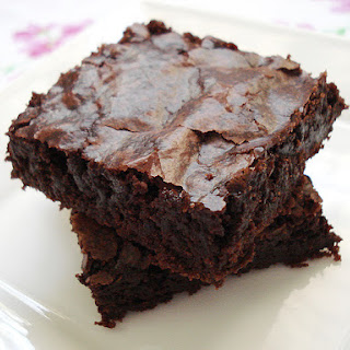 Chewy Gooey Eggless Brownies.