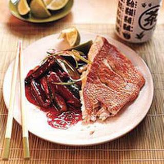 Crisp Red Snapper and Winter Stir-Fry Vegetables.