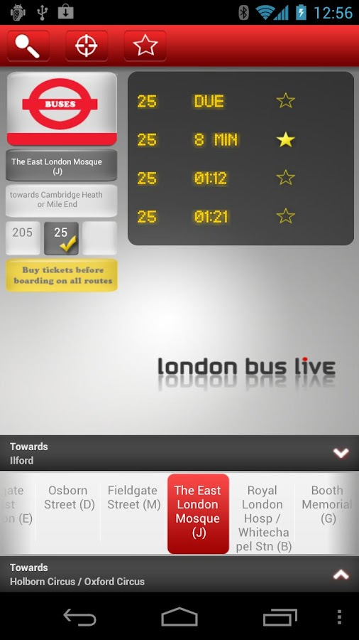London Bus Live- screenshot
