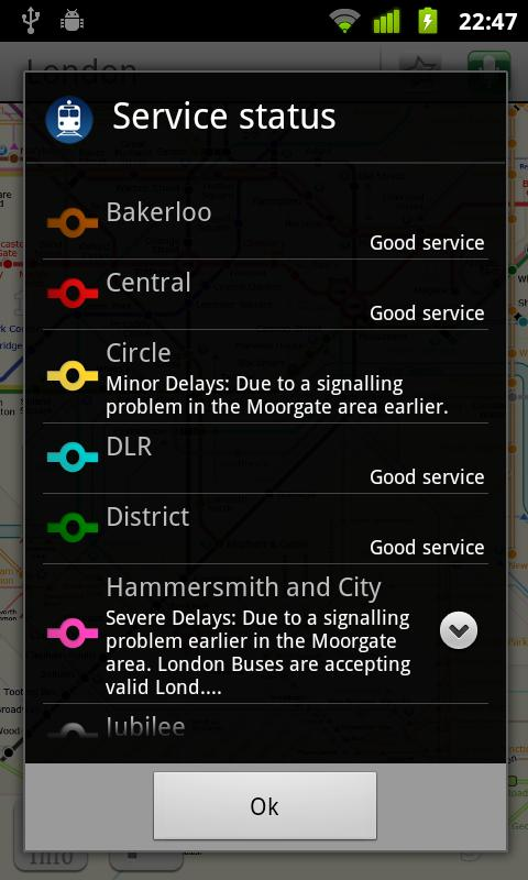 London tube (Metro 24)- screenshot