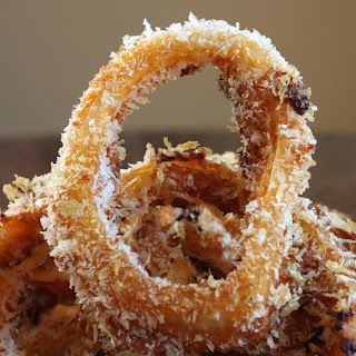 Baked BBQ Onion Rings.