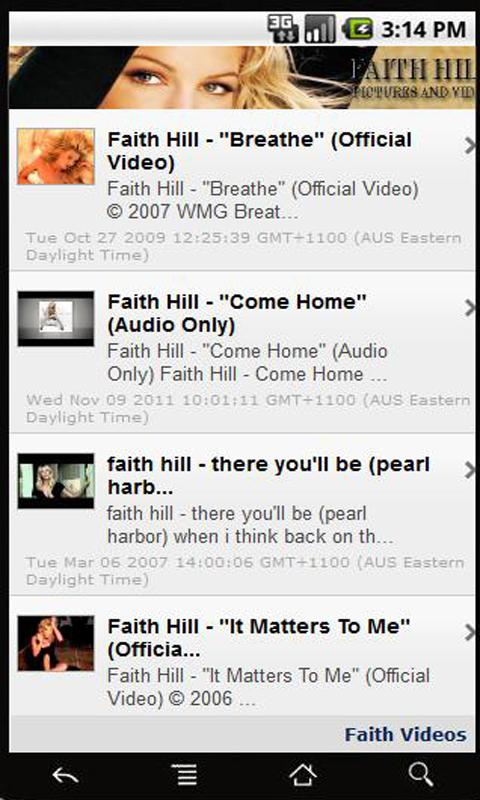 Faith Hill Pictures and Video - screenshot