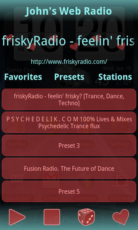 John's Web Radio - screenshot