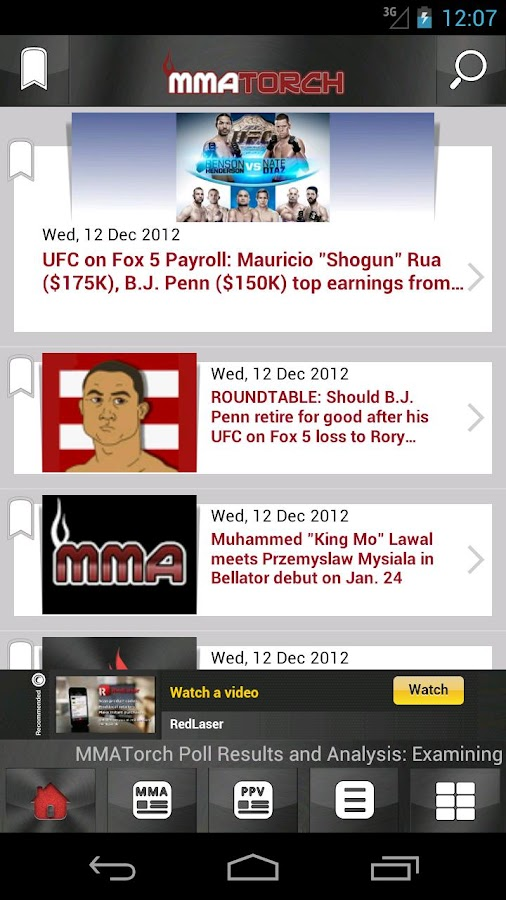 MMA Torch: Live MMA News!- screenshot