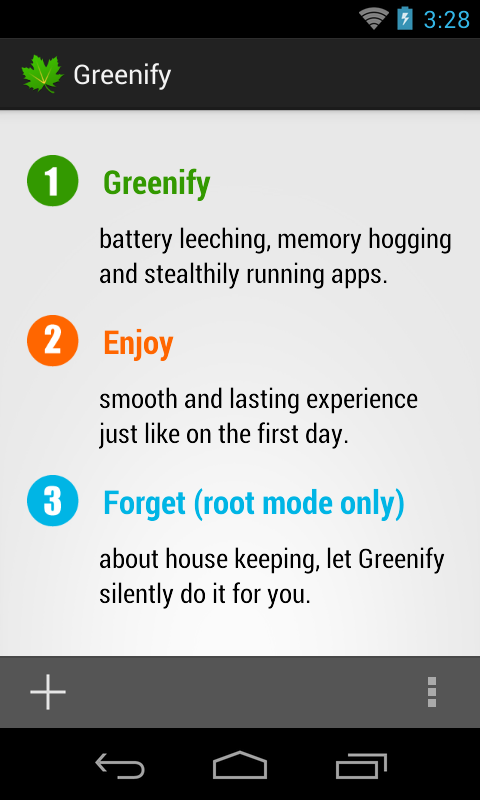 Greenify - screenshot