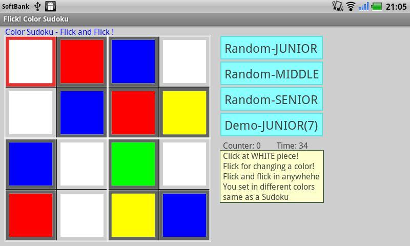 Flick ! Color Sudoku- screenshot