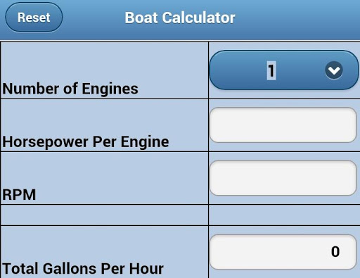 Boat Fuel Calculator