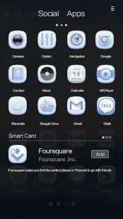 Blue Soul GO Launcher Theme - screenshot thumbnail