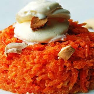 Carrot Halwa (Indian dessert).