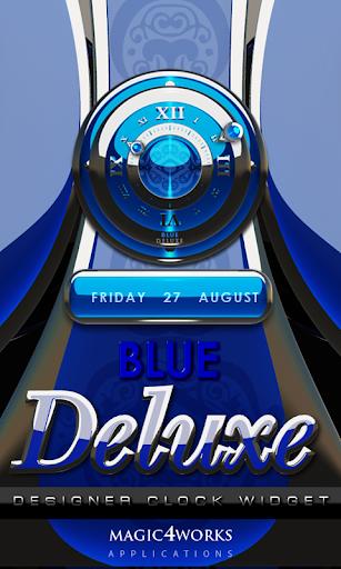 Blue Deluxe Clock Widget
